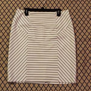 Antonio Melani Black and White Pinstripe Skirt
